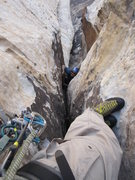 Rock Climbing Photo: Looking down from the lip of the overhang!