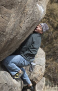 Rock Climbing Photo: Mark Roth LOVES the granite features @ The Freight...