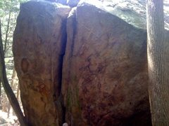 Rock Climbing Photo: Bones to Bits Offwidth Chimney V3