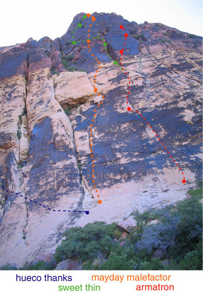 hueco thanks start, compared to other routes on brownstone right.