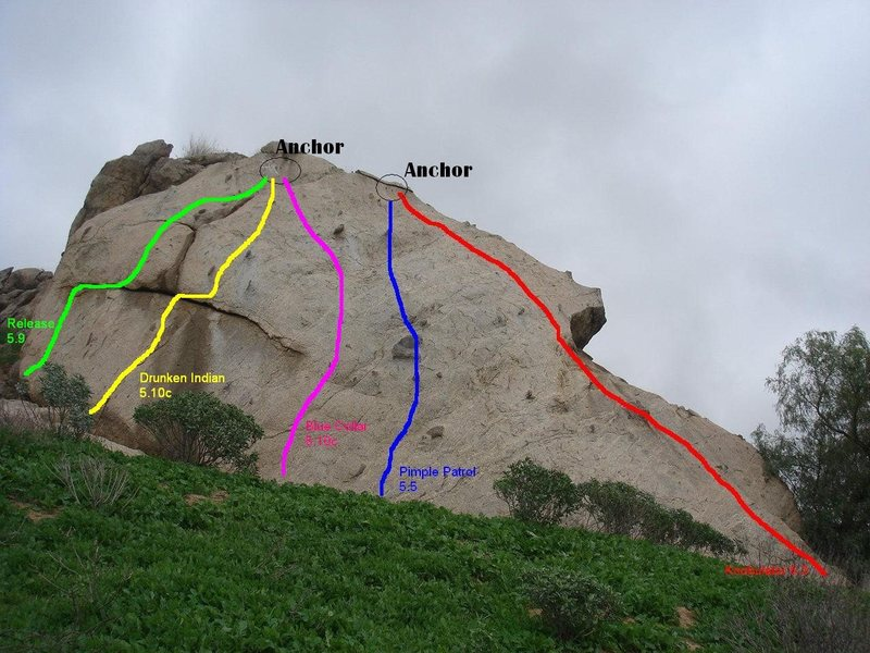 Rock Climbing Photo: Route Info for Knob Wall