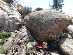 Rock Climbing Photo: Nick attempting Walking on Sunshine.