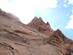 Rock Climbing Photo: Andy starting P2