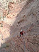 Rock Climbing Photo: Paul following P2. Photo A Ross