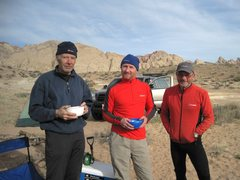 Rock Climbing Photo: The unofficial Utah Berghaus team L to R Gene, And...