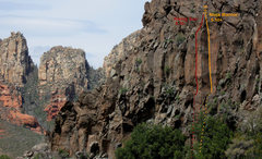 Rock Climbing Photo: Rising Sun topo