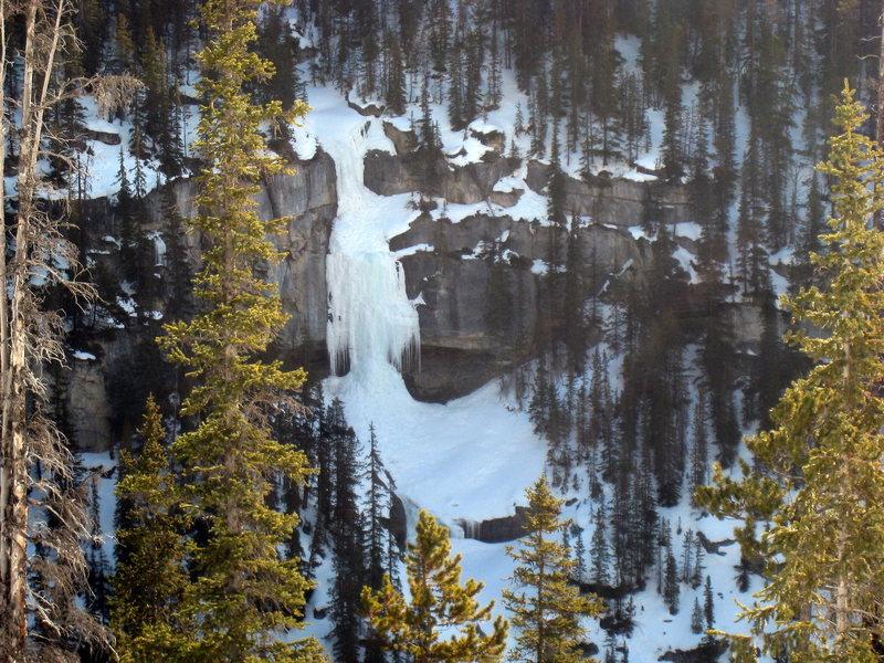 Bridal Veil Falls as seen from Panther Falls