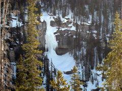 Rock Climbing Photo: Bridal Veil Falls as seen from Panther Falls