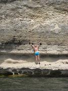 Rock Climbing Photo: Nikki on the start of Pocket Protector!