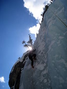 Rock Climbing Photo: Farzad styling the top section of the left variati...