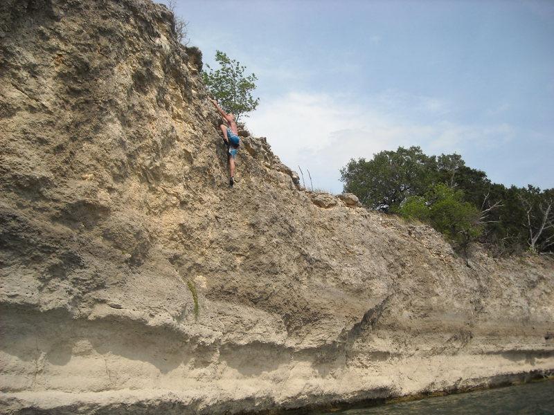 Rock Climbing Photo: High on Nikki's Flake.