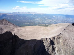 Rock Climbing Photo: Boulderfield and the Mummy Range seen from the Dia...