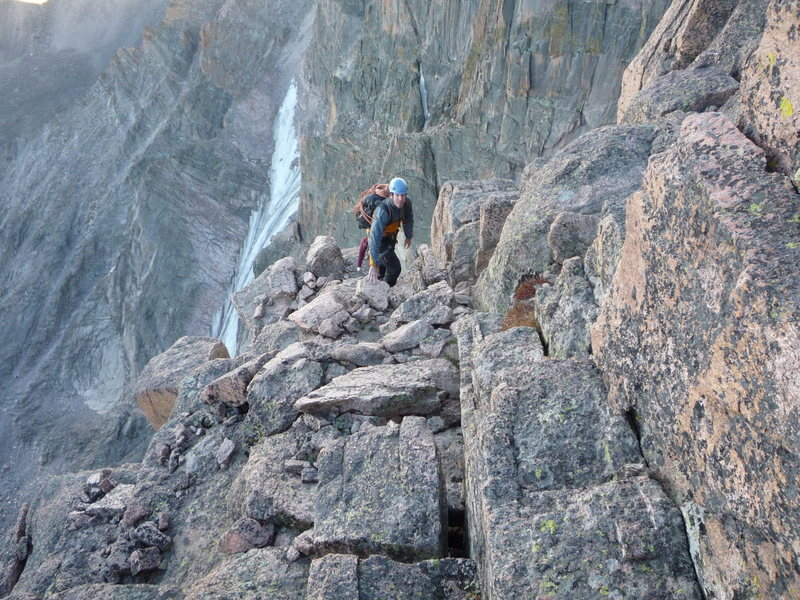 "Rock Climbing Photo: On the ""staircase"", Longs Peak."