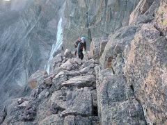 "Rock Climbing Photo: On the ""staircase"", Longs Peak."