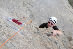 "Rock Climbing Photo: Michael McKay ponders the crux overhang on ""T..."