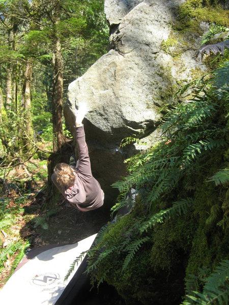Rock Climbing Photo: Using the thumb catch.