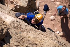 "Rock Climbing Photo: Cody works his way up ""The Baroque Period&quo..."