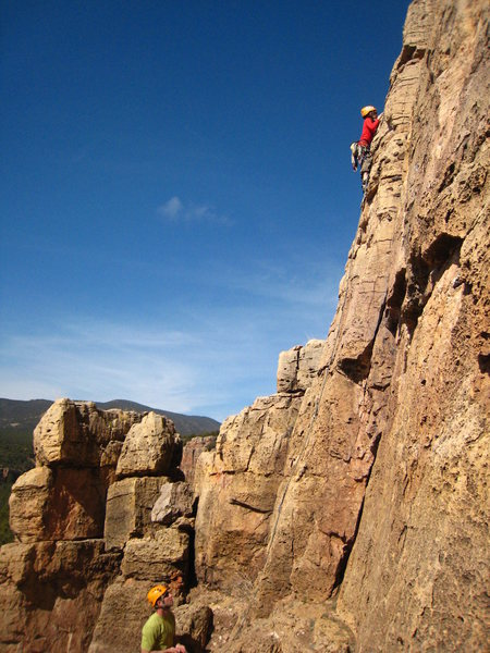 Rock Climbing Photo: Cody's introduction to Shelf Road: Alexi's Climb, ...