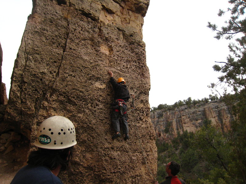 Rock Climbing Photo: Cody finishing up a great trip with a go on Red Do...