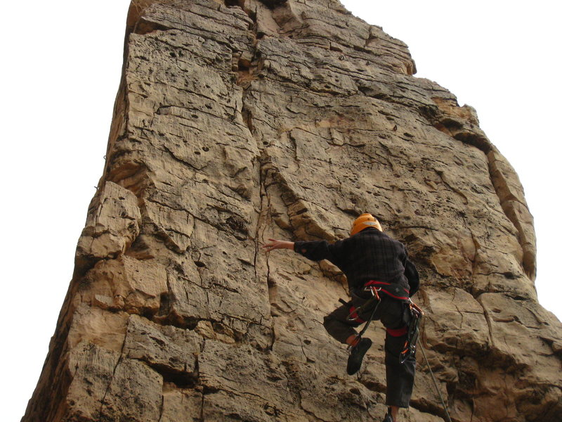 Rock Climbing Photo: Happened to get a shot of his first real whipper o...