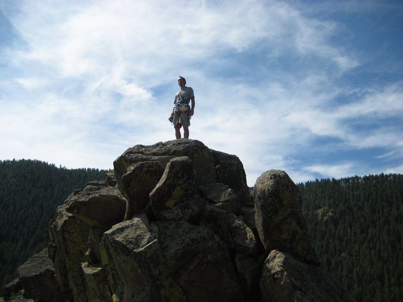Rock Climbing Photo: Summit of Lovers Leap, CO.