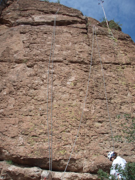 Rock Climbing Photo: The left climb is Stoned (5.7)
