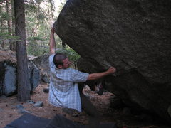 Rock Climbing Photo: V4 dyno, House Keeping boulderings. Yosemite Valle...