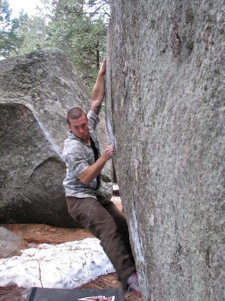 Unknown boulder problem in Yosemite Valley.