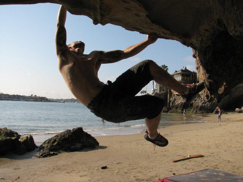 Bouldering in Corona Del Mar.
