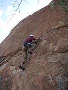 Rock Climbing Photo: Scott about half way up the wall