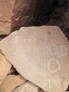 Rock Climbing Photo: big plaqu at the base