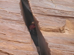 Rock Climbing Photo: going deep on the FA