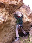 Rock Climbing Photo: A knob clinging to The Knob!