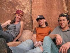 Rock Climbing Photo: me ms Crissy an the potog Steavze.