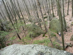 Rock Climbing Photo: Bekah in the the boulder field at Interstate Homel...