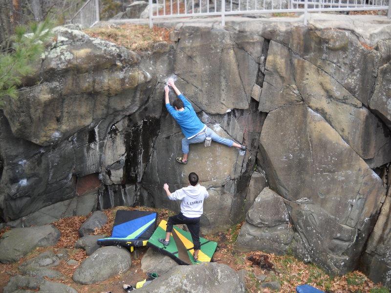 Rock Climbing Photo: Spider Tracks