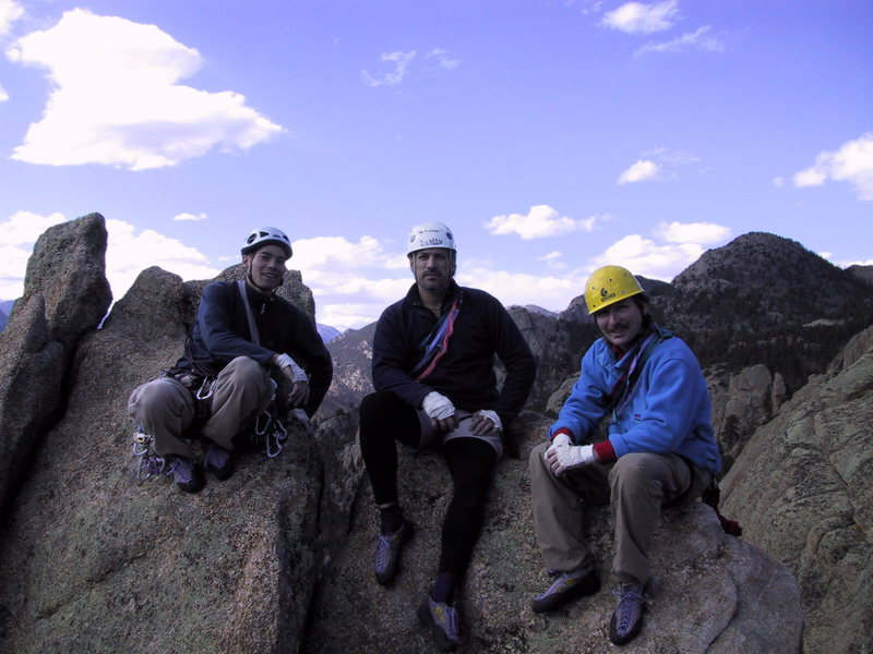 Rock Climbing Photo: Summit of Twin Owls, Lumpy Ridge.