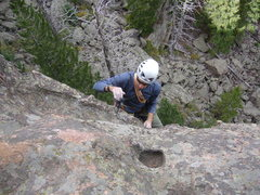 Rock Climbing Photo: Just past the crux.