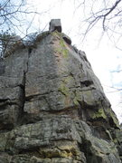 Rock Climbing Photo: First part of the wall as you walk up behind the b...