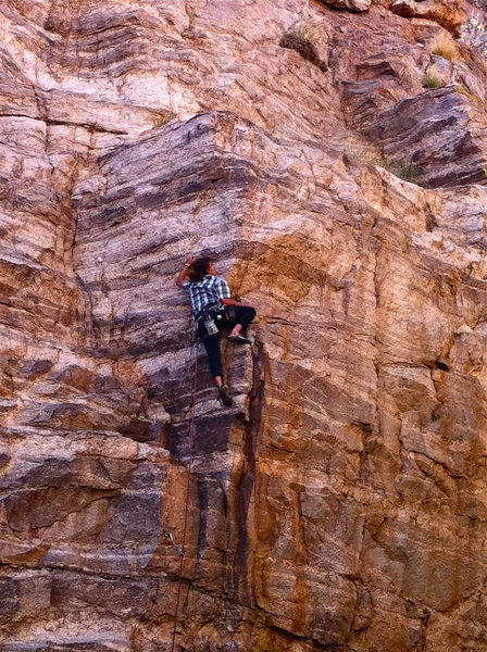 Rock Climbing Photo: working out on the arete