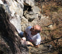 Rock Climbing Photo: I fell from here SO many times until I was told me...