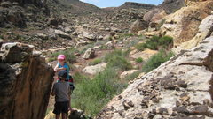 Rock Climbing Photo: It took Lucy half an hour to guide Nate out of thi...