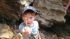 "Rock Climbing Photo: ""Look Daddy!  I found a BONE!!"""