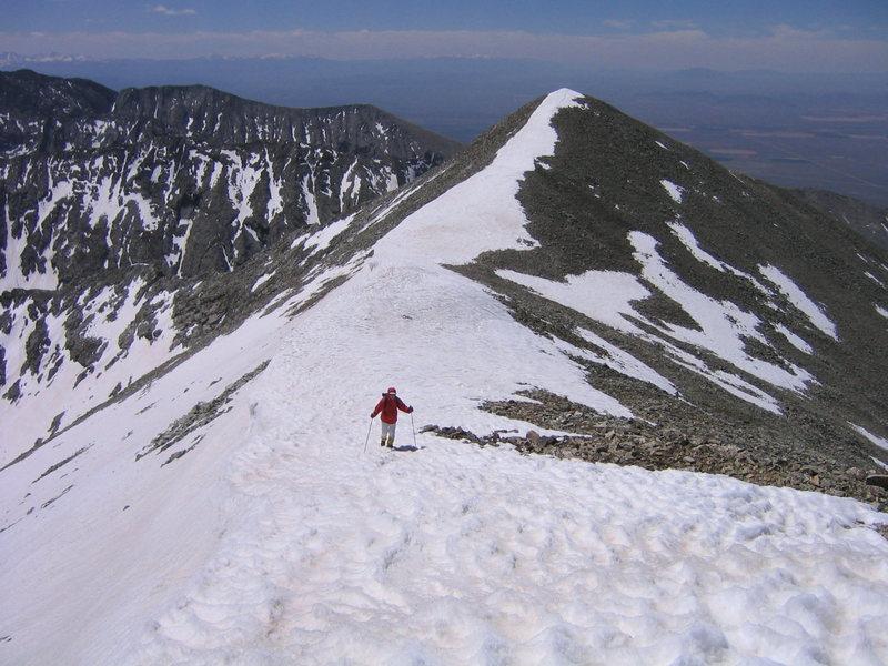 Approaching the summit of Twin Peak, Sangre De Cristos, CO.