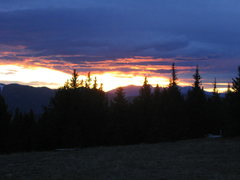 Rock Climbing Photo: Sunset near the Spanish Peaks, CO.