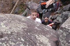 Rock Climbing Photo: The Gentleman getting ready.