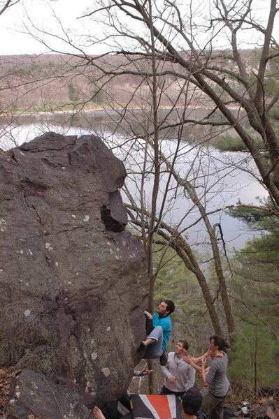 Rock Climbing Photo: Ian topping out the flash.