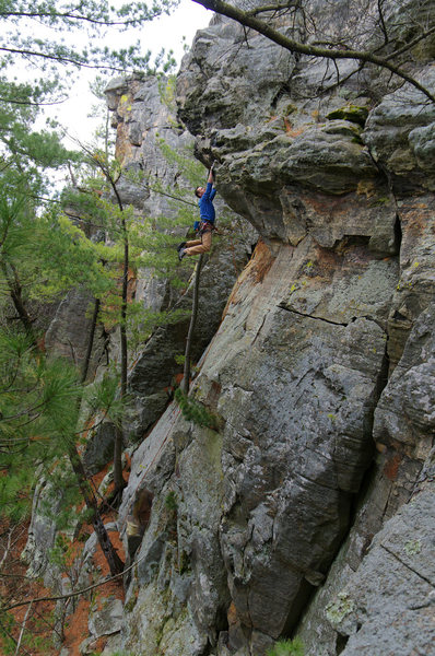 Rock Climbing Photo: Hand traverse on Steve Tucker's (yet to be named?)...