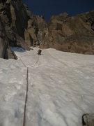 Rock Climbing Photo: 1st pitch above Broadway.