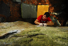Rock Climbing Photo: Andy lovin the crimps